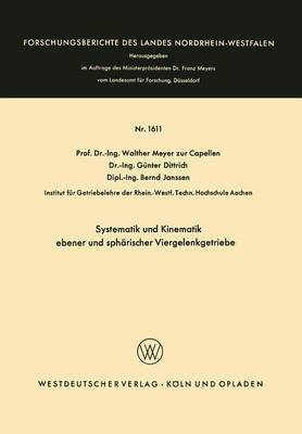 Systematik Und Kinematik Ebener Und Spharischer Viergelenkgetriebe