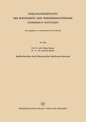 Spektralanalyse Durch Messung Des Interferenz-Kontrasts