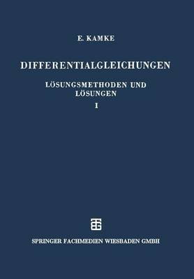 Differentialgleichungen Losungsmethoden Und Losungen