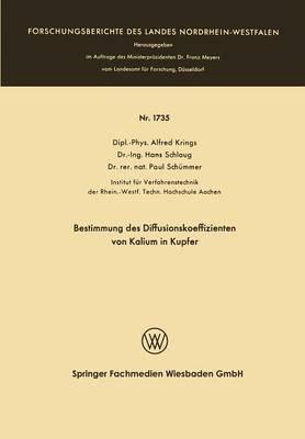 Bestimmung Des Diffusionskoeffizienten Von Kalium in Kupfer