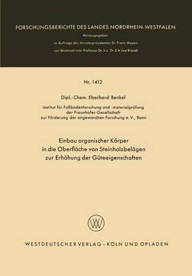 Einbau Organischer Korper in Die Oberflache Von Steinholzbelagen Zur Erhohung Der Guteeigenschaften