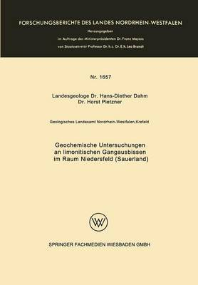 Geochemische Untersuchungen an Limonitischen Gangausbissen Im Raum Niedersfeld (Sauerland)