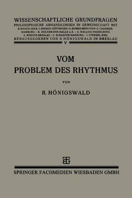 Vom Problem Des Rhythmus: Eine Analytische Betrachtung Uber Den Begriff Der Psychologie
