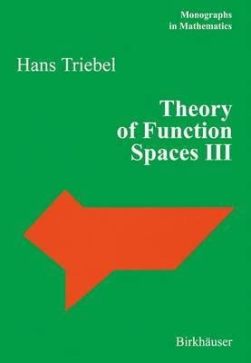 Theory of Function Spaces: v. 3