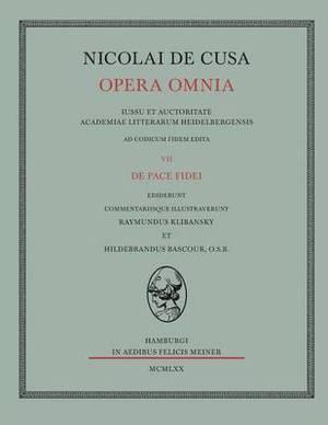 Nicolai de Cusa Opera Omnia. Volumen VII