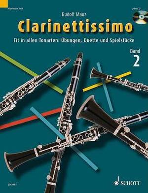 Clarinettissimo Vol. 2 Book/CD: For Clarinet Solo and Duet
