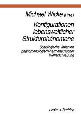 Konfigurationen Lebensweltlicher Strukturphanomene: Soziologische Varianten Phanomenologisch-Hermeneutischer Welterschliessung