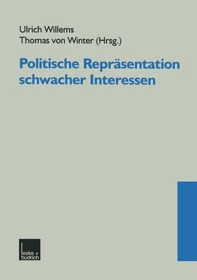 Politische Repr Sentation Schwacher Interessen