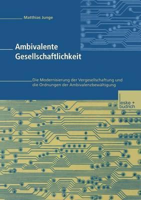 Ambivalente Gesellschaftlichkeit: Die Modernisierung Der Vergesellschaftung Und Die Ordnungen Der Ambivalenzbewaltigung
