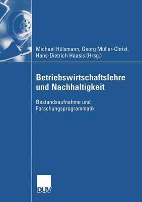 Betriebswirtschaftslehre Und Nachhaltigkeit: Bestandsaufnahme Und Forschungsprogrammatik