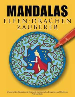 Mandalas Elfen Drachen Zauberer