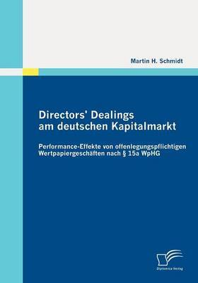 Directors' Dealings Am Deutschen Kapitalmarkt