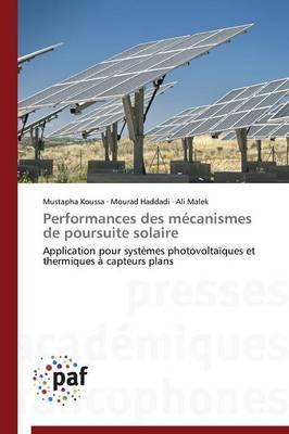 Performances Des Mecanismes de Poursuite Solaire