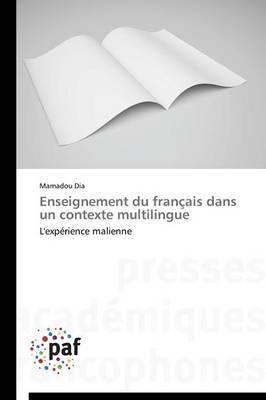 Enseignement Du Francais Dans Un Contexte Multilingue