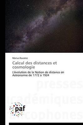 Calcul Des Distances Et Cosmologie