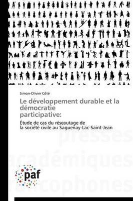 Le Developpement Durable Et La Democratie Participative: