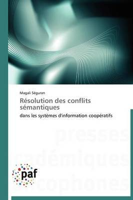 Resolution Des Conflits Semantiques