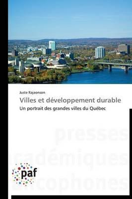 Villes Et Developpement Durable