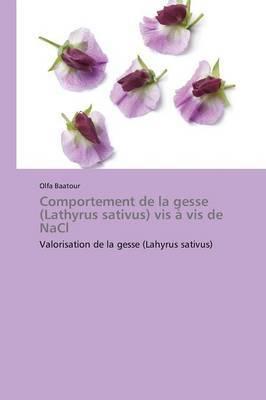 Comportement de La Gesse (Lathyrus Sativus) VIS a VIS de Nacl