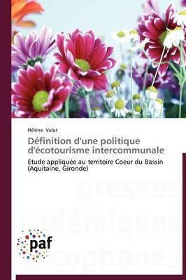 Definition D'Une Politique D'Ecotourisme Intercommunale