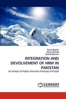 Integration and Devolvement of Hrm in Pakistan