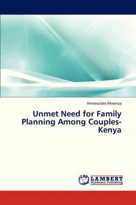 Unmet Need for Family Planning Among Couples-Kenya