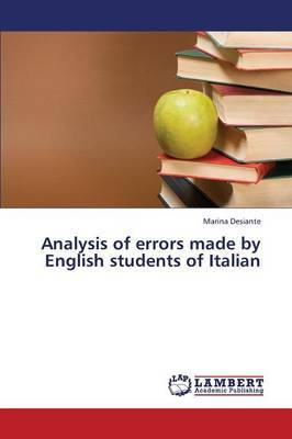 Analysis of Errors Made by English Students of Italian