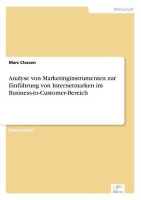 Analyse Von Marketinginstrumenten Zur Einfuhrung Von Internetmarken Im Business-To-Customer-Bereich