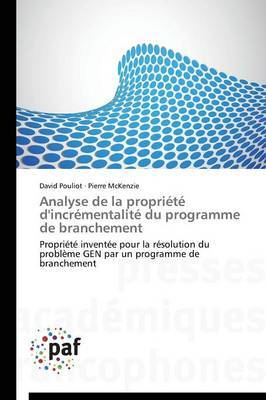 Analyse de La Propriete D'Incrementalite Du Programme de Branchement