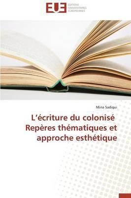 L Ecriture Du Colonise Reperes Thematiques Et Approche Esthetique