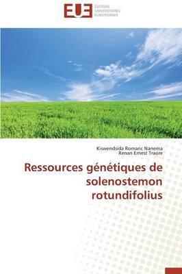 Ressources Genetiques de Solenostemon Rotundifolius