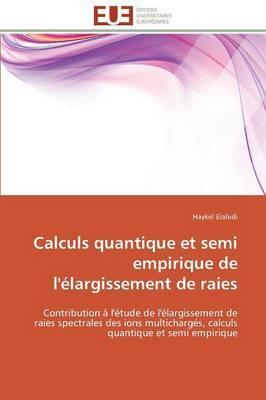 Calculs Quantique Et Semi Empirique de L'Elargissement de Raies