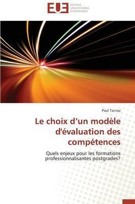 Le Choix D Un Modele D'Evaluation Des Competences