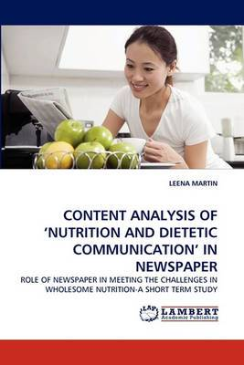 Content Analysis of 'Nutrition and Dietetic Communication' in Newspaper