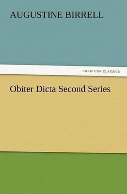 Obiter Dicta Second Series