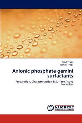 Anionic Phosphate Gemini Surfactants