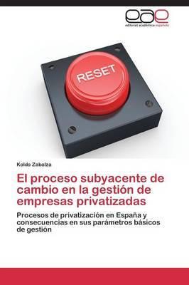 El Proceso Subyacente de Cambio En La Gestion de Empresas Privatizadas