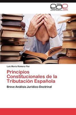 Principios Constitucionales de La Tributacion Espanola