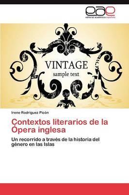 Contextos Literarios de la Opera Inglesa