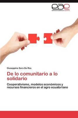 de Lo Comunitario a Lo Solidario