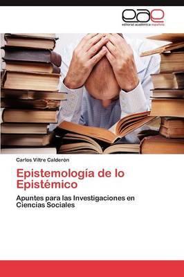 Epistemologia de Lo Epistemico