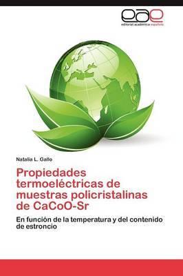 Propiedades Termoelectricas de Muestras Policristalinas de Cacoo-Sr