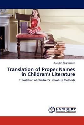 Translation of Proper Names in Children's Literature