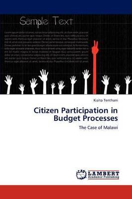 Citizen Participation in Budget Processes