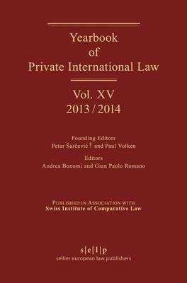 Yearbook of Private International Law: Volume XV (2013/2014)
