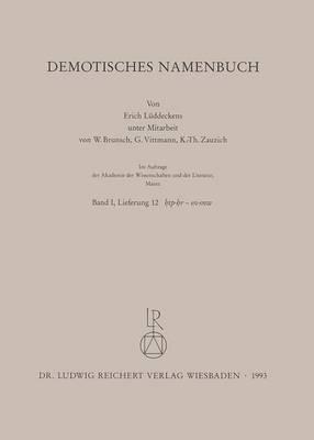 Demotisches Namenbuch: Lieferung 12