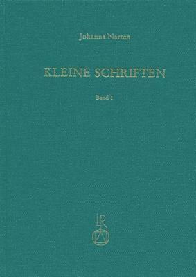 Johanna Narten. Kleine Schriften