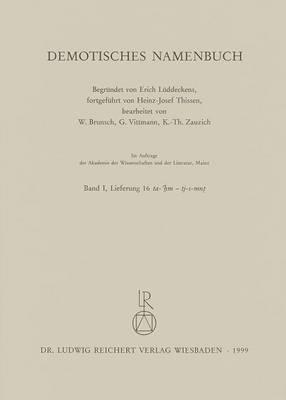 Demotisches Namenbuch: Lieferung 16