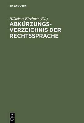 Abkurzungsverzeichnis der Rechtssprache