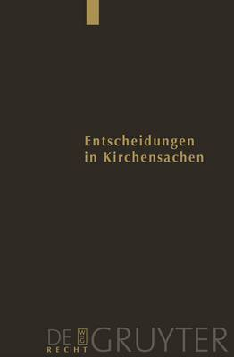 Entscheidungen Des Reichsgerichts in Strafsachen: Entscheidungen in Kirchensachen Seit 1946